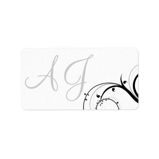 Etiquetas de dirección de la invitación del boda d