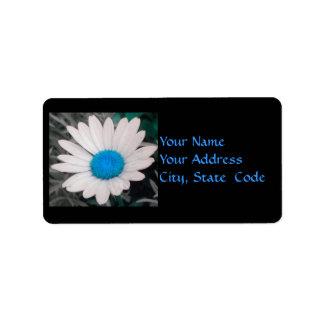 Etiquetas de dirección de la margarita (w/Blue)