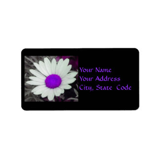 Etiquetas de dirección de la margarita (w/Purple)
