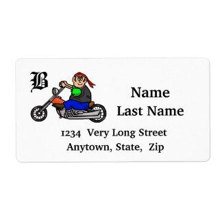 Etiquetas de dirección de la motocicleta del monta