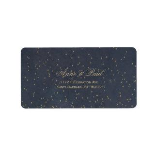 Etiquetas de dirección de la noche estrellada