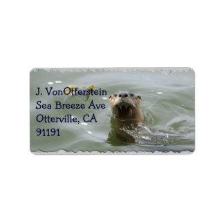 Etiquetas de dirección de la nutria de mar