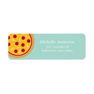 Etiquetas de dirección de la pizza de salchichones