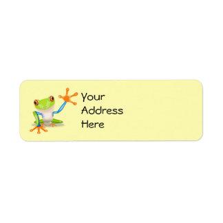 Etiquetas de dirección de la rana
