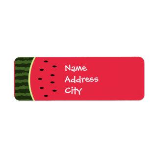 Etiquetas de dirección de la sandía
