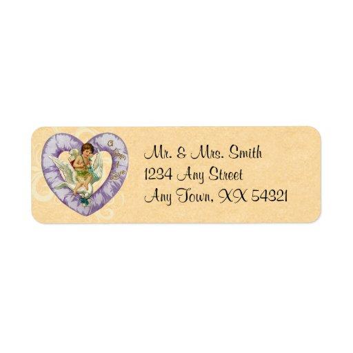 Etiquetas de dirección de la tarjeta del día de Sa