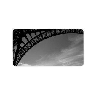 Etiquetas de dirección de la torre Eiffel