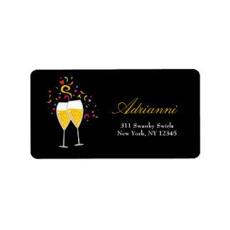 etiquetas de dirección de la tostada 311-Champagne