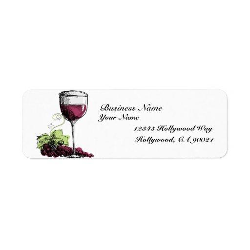 Etiquetas de dirección de la vid de uva
