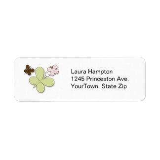 Etiquetas de dirección de las mariposas