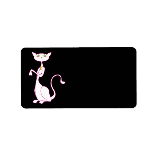 Etiquetas de dirección de Le Meow Blanc