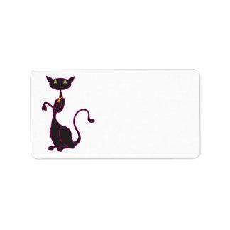 Etiquetas de dirección de Le Meow Noir