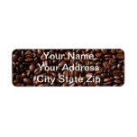 Etiquetas de dirección de los amantes del café