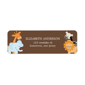 Etiquetas de dirección de los amigos del safari