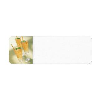 Etiquetas de dirección de los cócteles de Kentucky