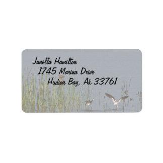 Etiquetas de dirección de los pájaros de los