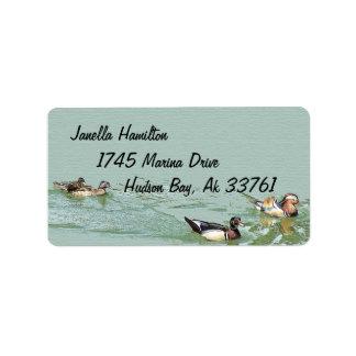 Etiquetas de dirección de los patos