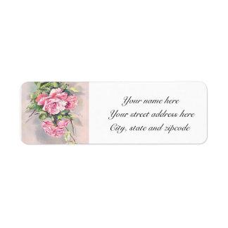 Etiquetas de dirección de los rosas del Victorian
