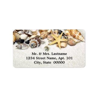 Etiquetas de dirección de los Seashells