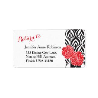 Etiquetas de dirección de lujo modernas del boda