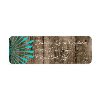 Etiquetas de dirección de madera de la flor del tr