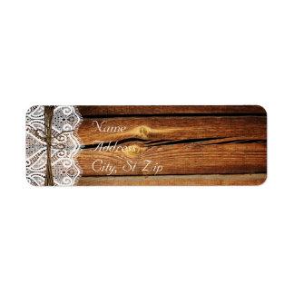 Etiquetas de dirección de madera de la guita del c