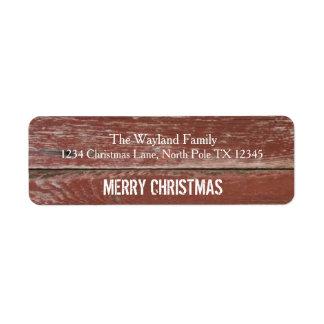 Etiquetas de dirección de madera del navidad del