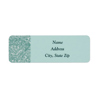 Etiquetas de dirección de mármol verdes clásicas