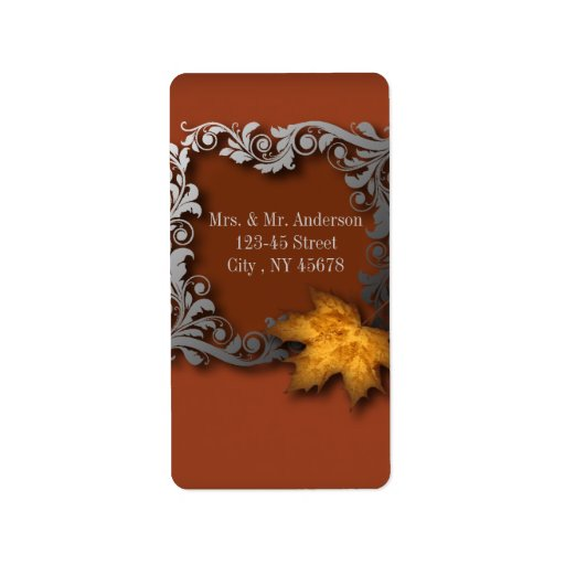 etiquetas de dirección de oro modernas del boda de