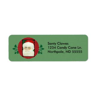 Etiquetas de dirección de Papá Noel
