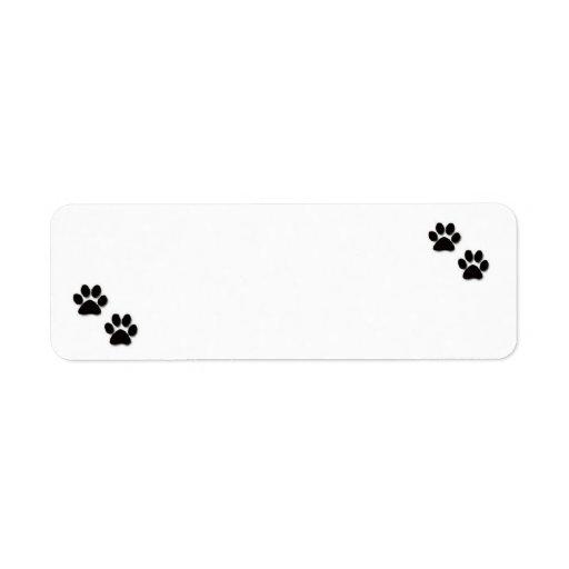 """Etiquetas de dirección de """"Pawprints"""""""