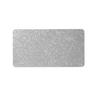 Etiquetas de dirección de plata brillantes en