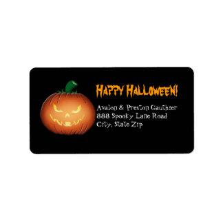 Etiquetas de dirección de Sr. Spooky Jack O Lanter
