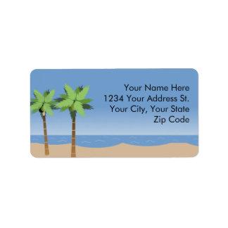 Etiquetas de dirección de Vista de la playa