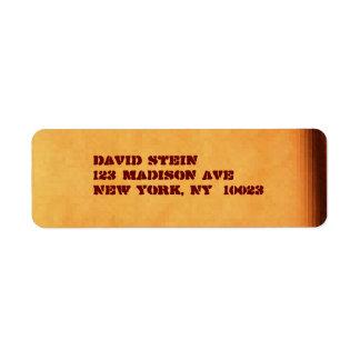 Etiquetas de dirección del acento de Brown/de la p