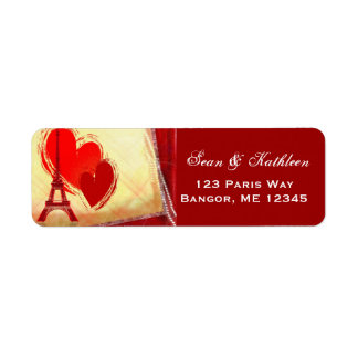 Etiquetas de dirección del amorío de París Francia