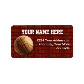 Etiquetas de dirección del baloncesto
