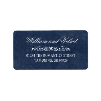 Etiquetas de dirección del boda de la acuarela
