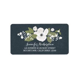 etiquetas de dirección del boda del vintage de las