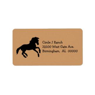 Etiquetas de dirección del caballo
