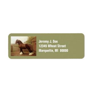 Etiquetas de dirección del caballo de proyecto de