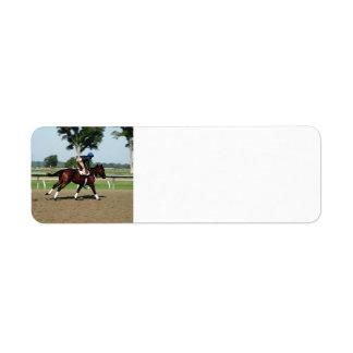 Etiquetas de dirección del caballo de raza