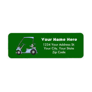 Etiquetas de dirección del carro de golf