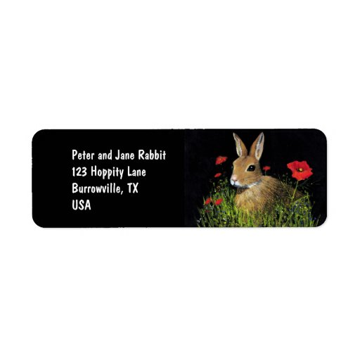 Etiquetas de dirección del conejo de conejito