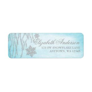 Etiquetas de dirección del copo de nieve del diama