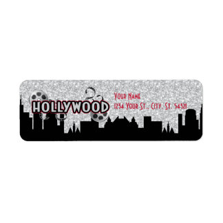 Etiquetas de dirección del cumpleaños de Hollywood