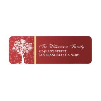 Etiquetas de dirección del día de fiesta del árbol