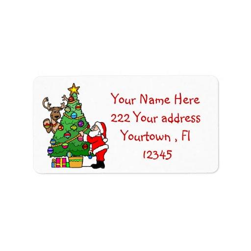 Etiquetas de dirección del diseño del navidad