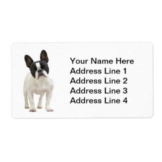 Etiquetas de dirección del dogo francés