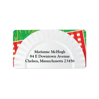 Etiquetas de dirección del envío del fiesta de la